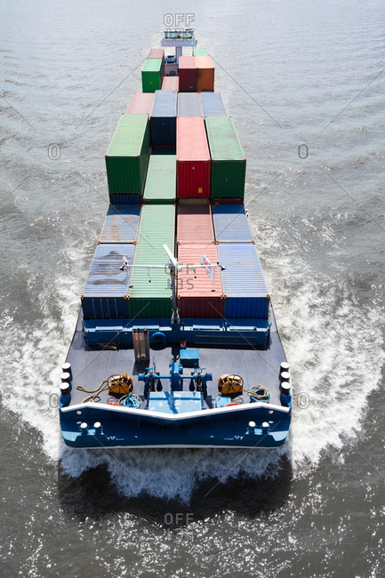 A container ship with cargo