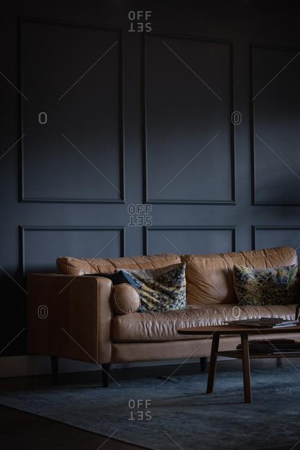 Empty sofa in office