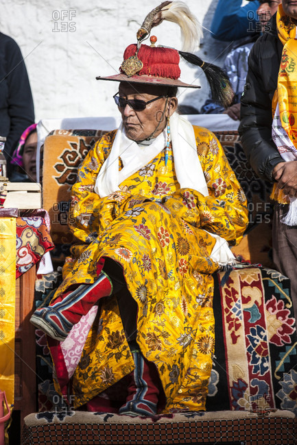 May 26, 2014: Portrait Of A Former Mustang King Jigme Palbar Bista In Lo Manthang, Mustang, Nepal