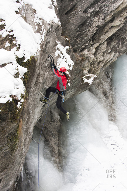 November 24, 2011: An Ice Climber In Kaprun, Austria