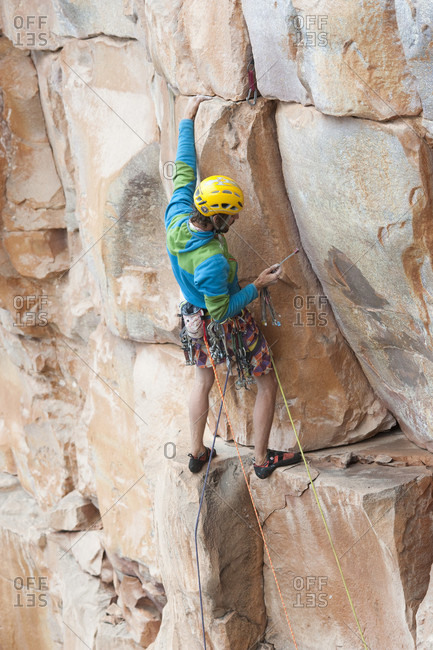 February 5, 2012: Male Climbing On The Rocky Mountain At Venezuela Expedition
