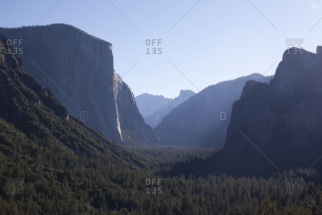 Scenic view in Yosemite National Park