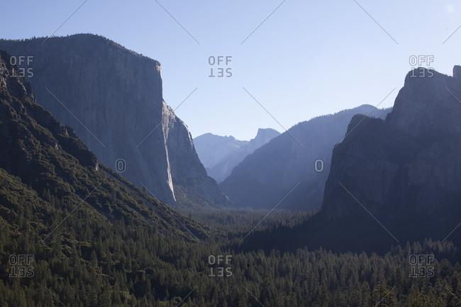 Scenic view in Yosemite National Park