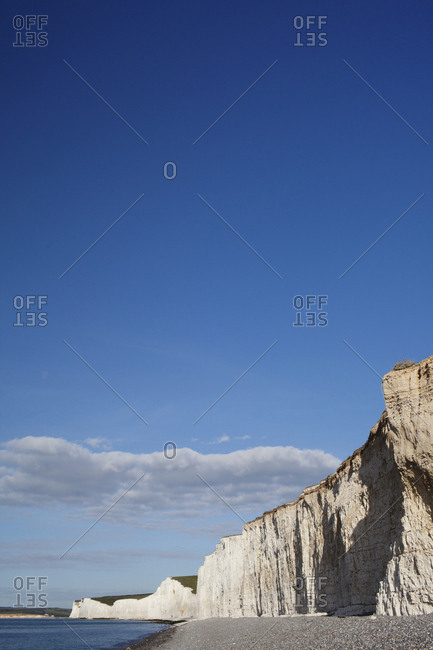 View of Seven Sisters cliffs in England