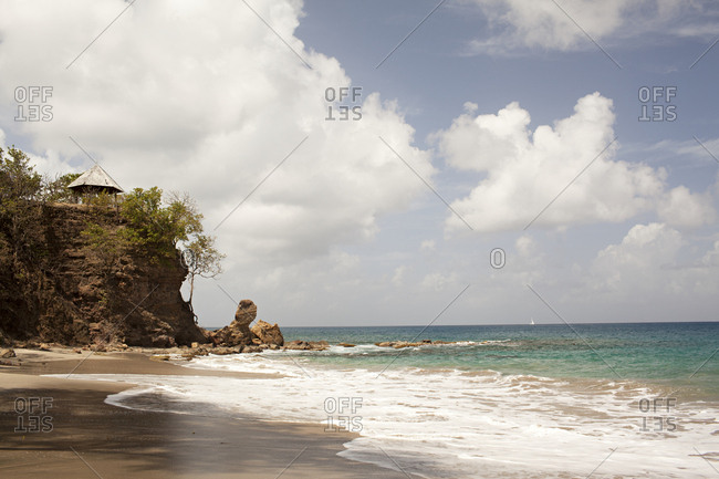 A beach in secluded spot