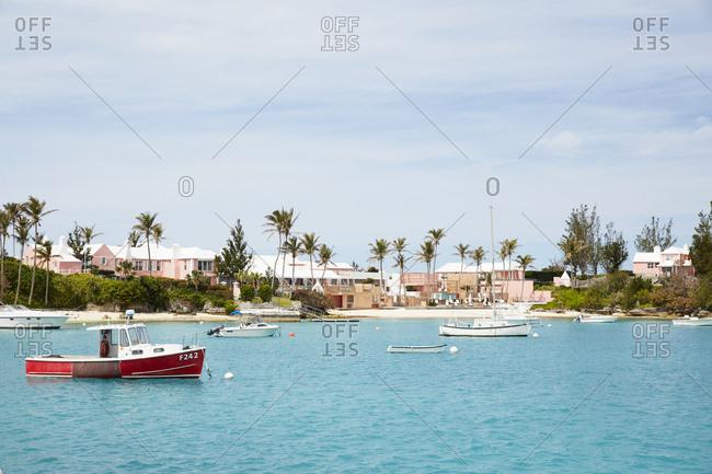 Sandy's Parish, Bermuda - March 26, 2017: Boats in a harbor