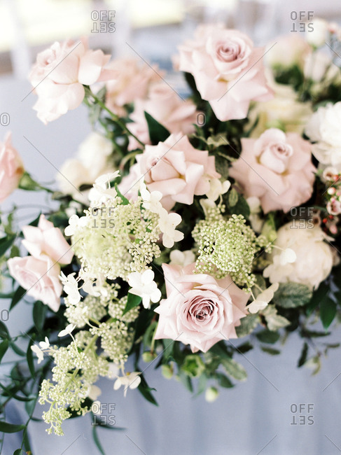 Bridal flowers in close up