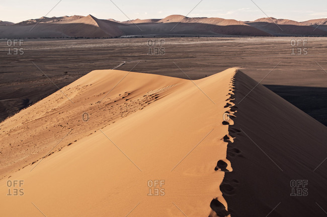 Beautiful natural scenery of Dune 45 near Sossusvlei, Namib Desert, Namibia