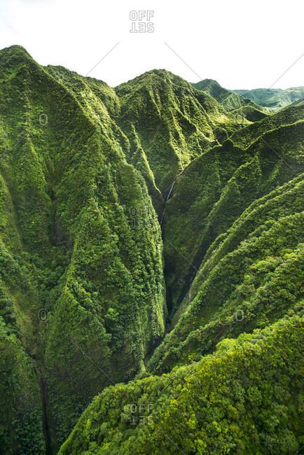 Sacred Falls on east side of Oahu, Hawaii, USA
