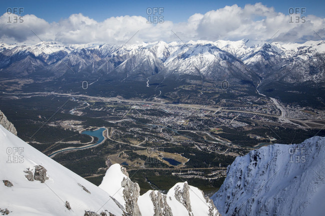 View of Mount Lawrence in snow during daytime, Canmore, Alberta, Canada