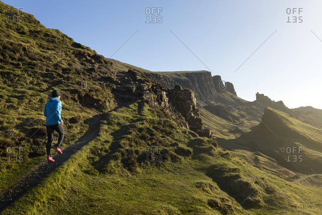 Jogger in mountains