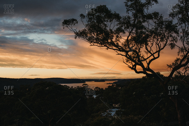 Dramatic view over Australian wilderness