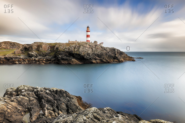 A long exposure taken at Eilean Glas lighthouse on the island of Scalpay, Western isles, Scotland