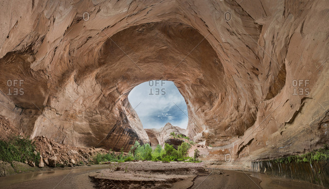 Scenic view of cave at Grand Staircase-Escalante National Monument