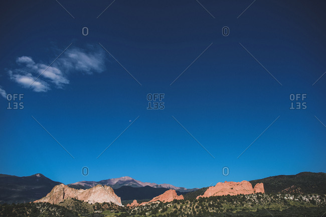 Scenic view of Garden of the Gods against sky