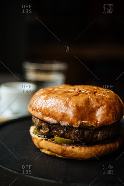 Hamburger with jalapeno