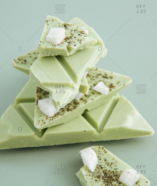 Lime chocolate with coconut - Offset