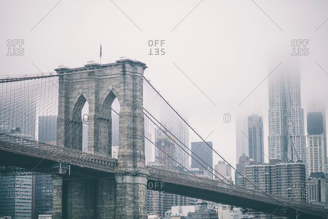 June 17, 2017: Brooklyn bridge, New York, USA