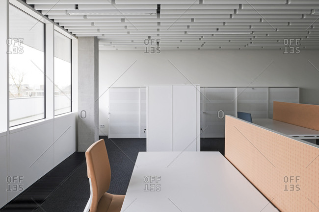 Torhout, Belgium - March 31, 2014: Cubicles in an office building