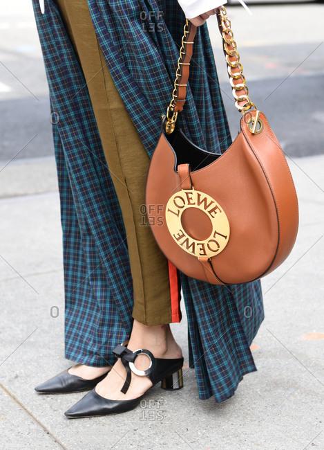New York, NY, USA - September 12, 2017: Fashionable woman on the streets
