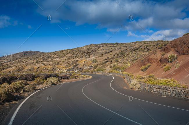 Volcanic landscape near La Restinga