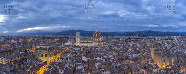 View of Santa Maria del Fiore Cathedral from Torre d'Arnolfo (Palazzo Vecchio bell tower)