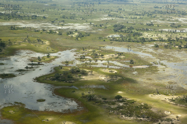 Okavango delta by air