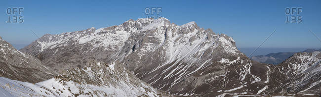 Spain- Cantabria- Winter Landscape in Picos de Europa mountains