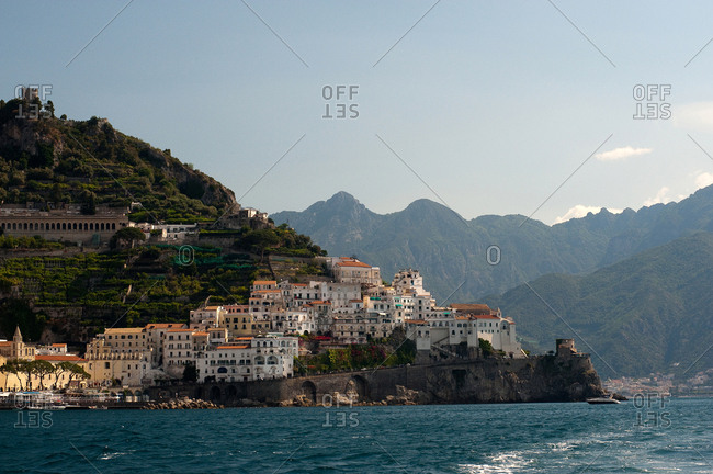 The town of Amalfi on the Gulf of Salerno