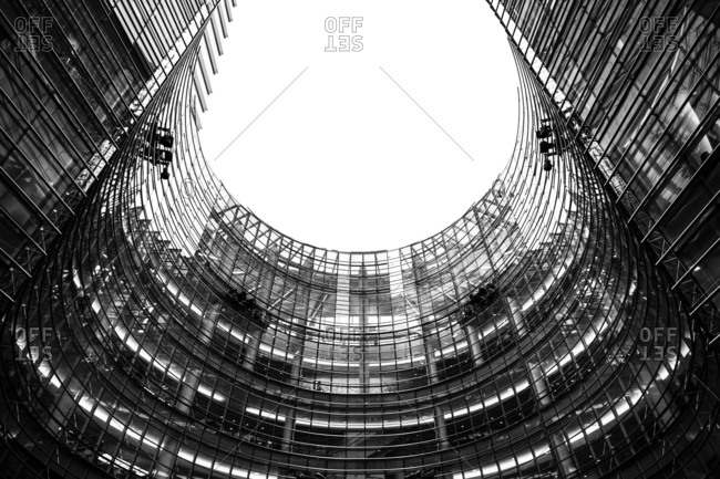 New York, New York, USA - December 28, 2015: 731 Lexington Avenue is a 1,400,000 sq ft glass skyscraper on the East Side of Midtown Manhattan, New York City. It houses the headquarters of Bloomberg L.P. and as a result, is sometimes referred to informally as Bloomberg Tower