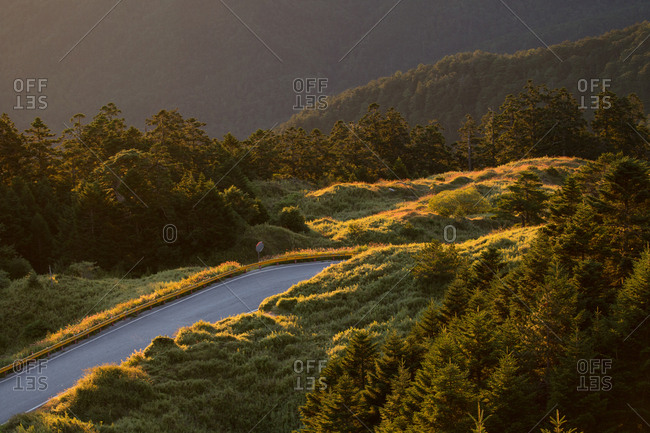 Road in the countryside of Taiwan