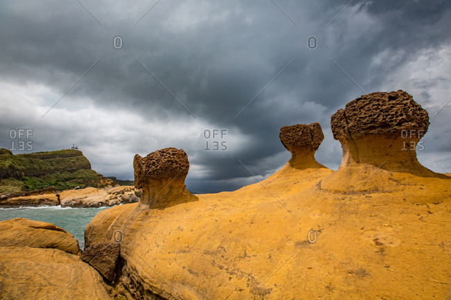 Rock formations along the coast of Taiwan