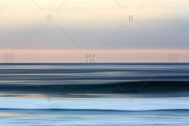 Ocean in sunset in abstract