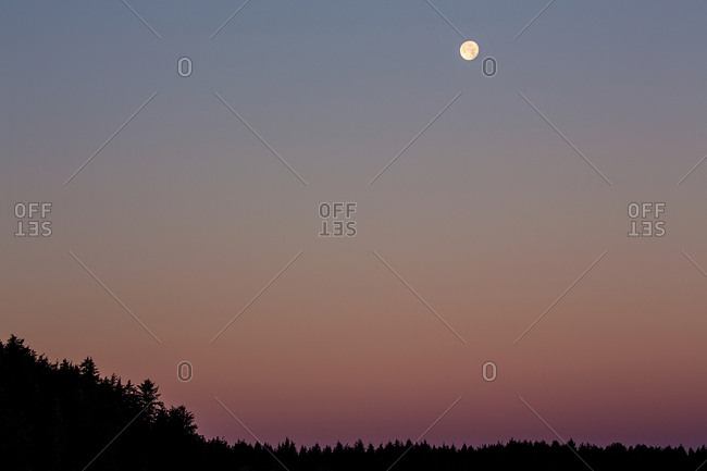 Moon in a dusky sky