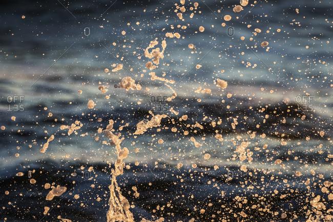 Ocean water in a splash