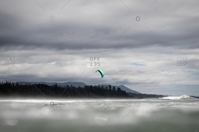 Parachute near a shore