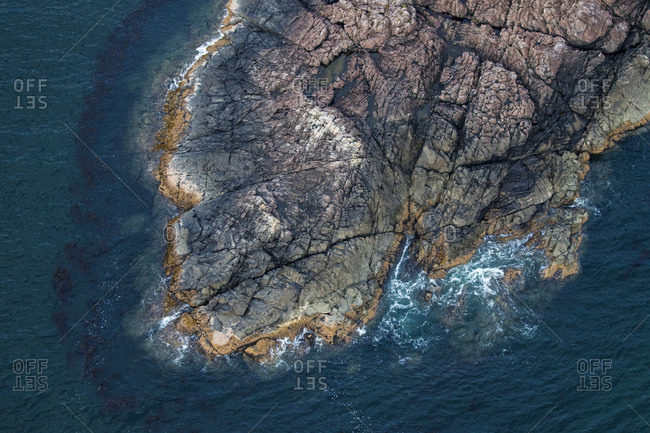 A rock peninsula from above