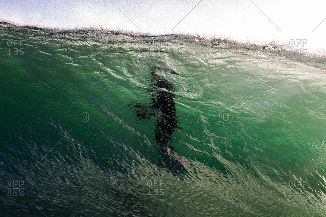 Surfer seen inside water