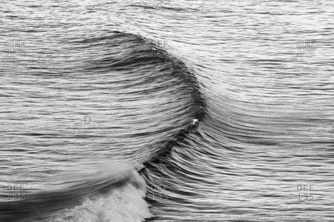 A wave beginning in sea