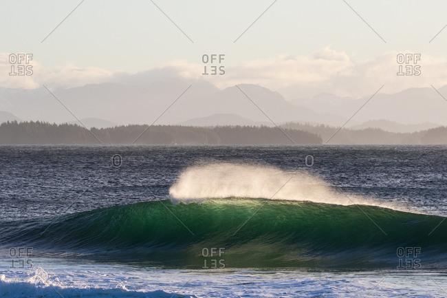 Rolling waves near a shoreline