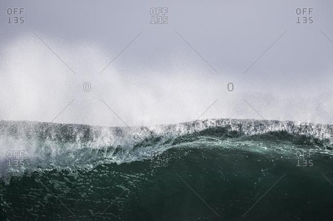 Ocean wave beginning to crash