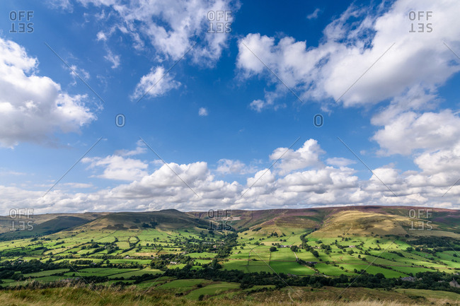 Vast countryside in Yorkshire, England