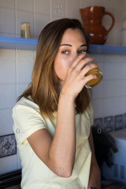Girl having breakfast