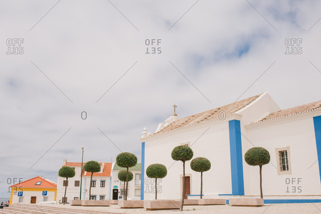 Mafra, Portugal - July 5, 2014: Old church and buildings in Mafra, Portugal