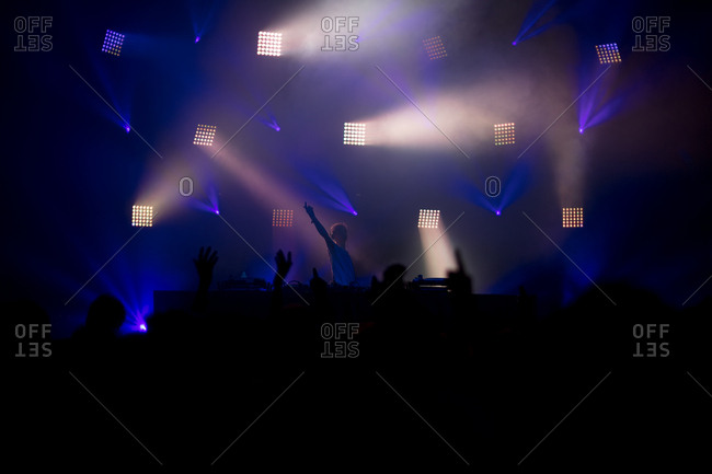 DJ performing at concert