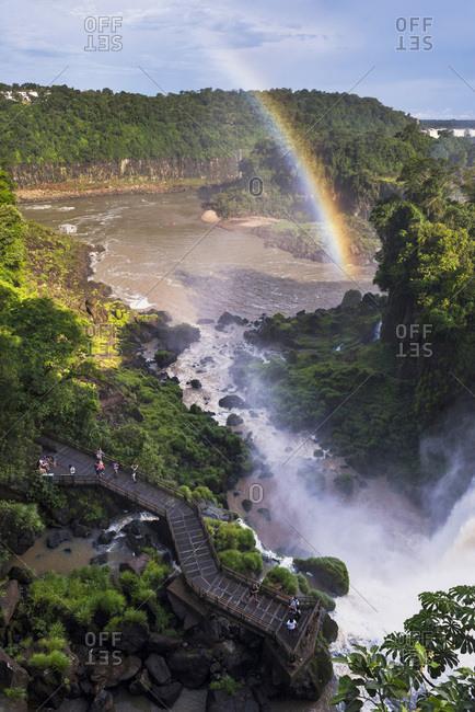 December 31, 2014: Argentina, Misiones, Puerto Iguazu, Iguazu National Park, Iguassu Falls, Cataratas del Iguazu, Iguazu Falls