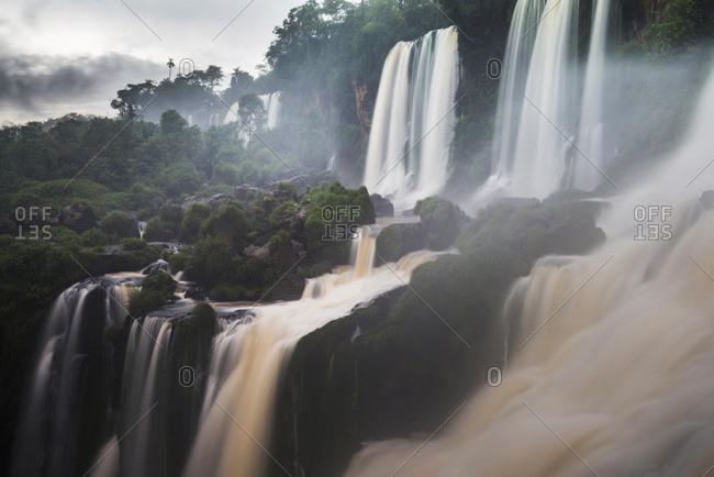 Argentina, Misiones, Puerto Iguazu, Salto Bossetti Waterfall, Iguazu Falls (aka Iguassu Falls or Cataratas del Iguazu), Misiones Province, Argentina