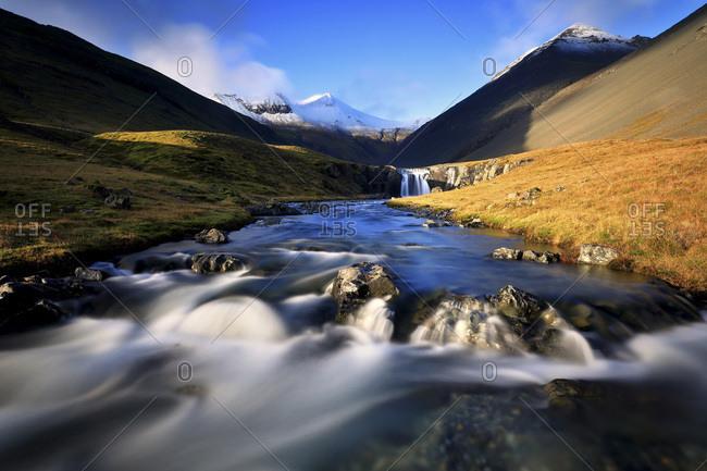 Iceland, East Iceland, Austurland, H_fn, Icelandic creek, Stokksnes