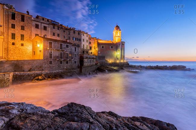 Italy, Liguria, La Spezia district, Riviera di Levante, Tellaro, Mediterranean sea, Ligurian sea, Ligurian Riviera, Golfo dei Poeti,