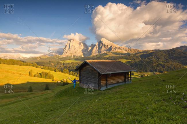 Italy, Trentino-Alto Adige, Bolzano district, South Tyrol, Alpe di Siusi, Alps, Dolomites, Alpe di Siusi
